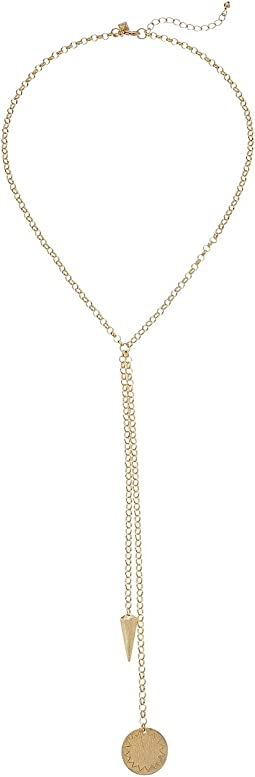Rebecca Minkoff - Medallion Double Drop Y-Necklace