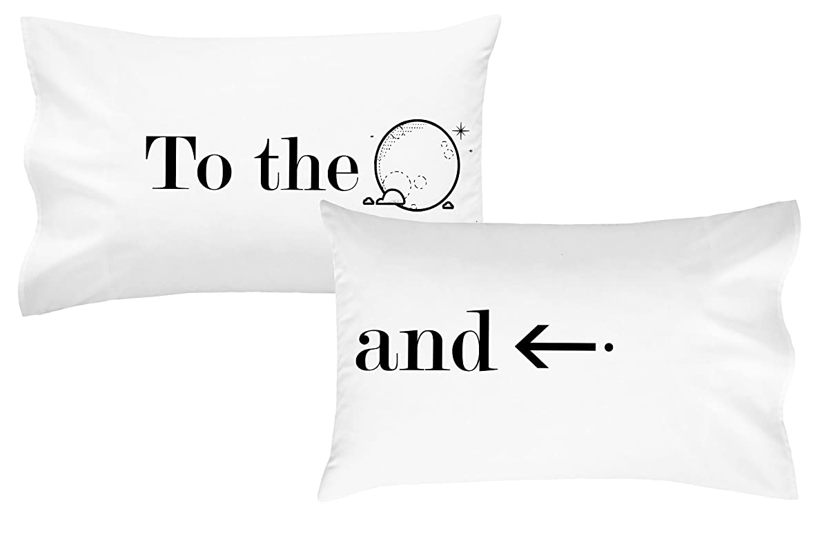 Oh, Susannah to the Moon and Back Pillow Case His and Her Wedding Engagement Gifts(2 Standard/Queen Size Pillowcases) Gifts for her