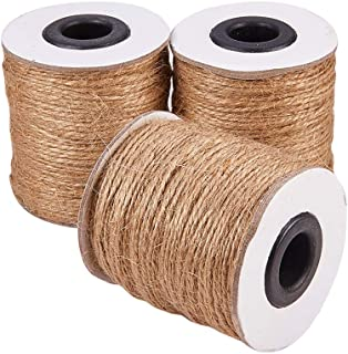 Pandahall (3 Rolls x 320 Feet) Natural Jute Twine 2-Ply Jute String Rope 1mm Hemp Rope Jute Cord DIY Crafts, Gift Wrapping