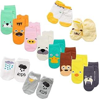 calcetines de bebé, 22 pares/juego, impresión de animales, calcetines con empuñaduras antideslizantes para bebé niñas niños