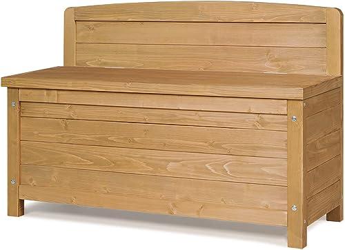"new arrival Giantex Storage online sale Bench Outdoor Fir Wood 16.5 Gallon online sale Storage Container for Entryway,Patio,Garden Balcony,Yard Deck Storage Box, 35.5""x13""x23.5"" (Natural) online sale"