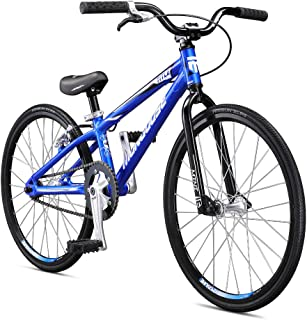 Mongoose Title Mini BMX Race Bike for Beginner Riders, Featuring Lightweight Tectonic T1 Aluminum Frame and Internal Cable Routing with 20-Inch Wheels, Blue