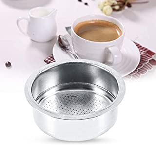 Stainless Steel Non Pressurized Filter, DELFINO 1 Pcs Strainer 51mm Coffee Filter Basket Reusable Coffee Filter For Coffee...