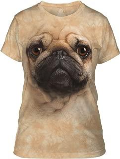 Junior's Pug Face Graphic T-Shirt