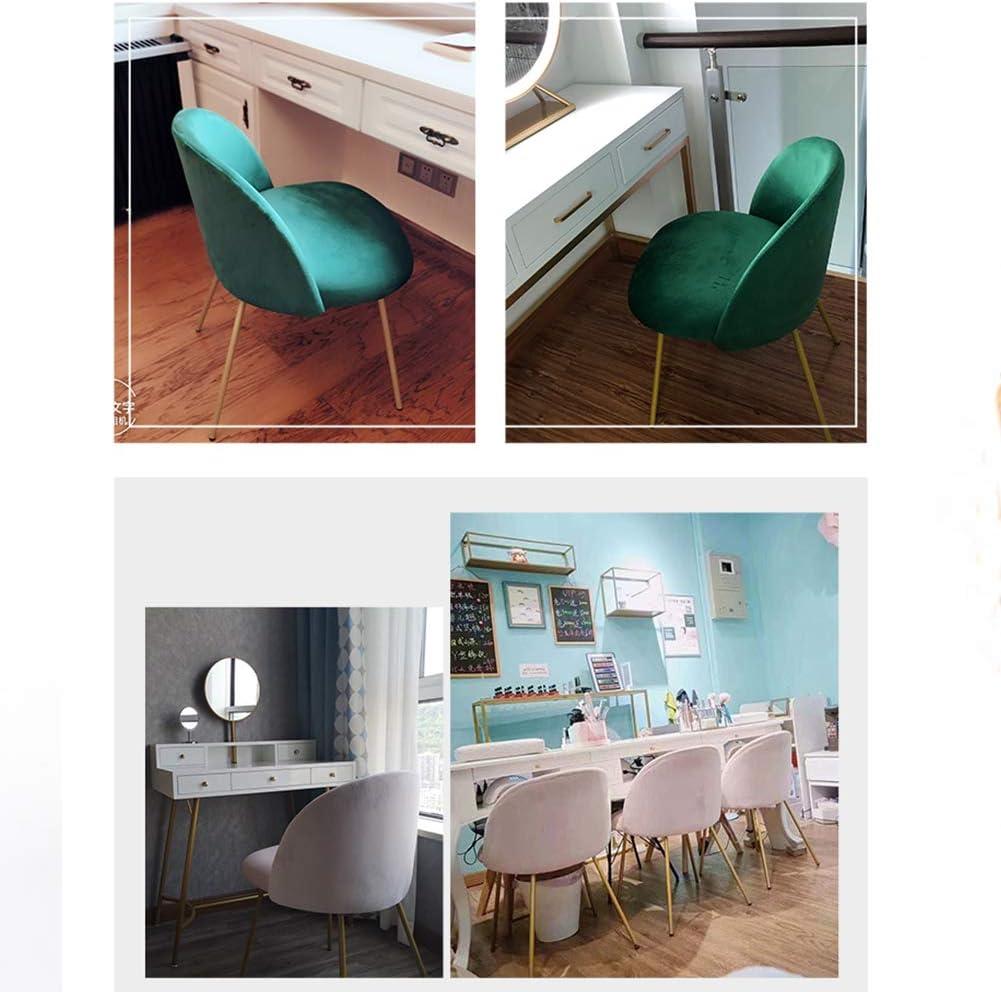 ZDY Style Nordique Moderne de Chaise de Salle à Manger, Coussin de Tissu d'aération, Jambes en métal Robustes, pour la Cuisine, dinant, Chambre à Coucher, Salon Beige-black Feet