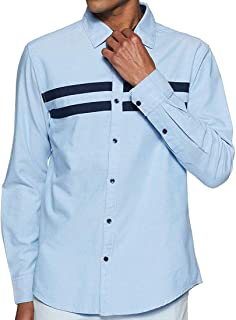 parth fashion Hub Men's Cotton Plain Casual Full Sleeve Regular Fit Shirt