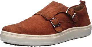 Brothers United Mens Mens Genuine Leather Luxury Double Monk Slip on Sneaker