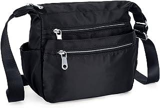 UTO Nylon Crossbody Bag Oxford Waterproof Cloth Shoulder Purse Messenger Bag for iPad Kindle Tablets