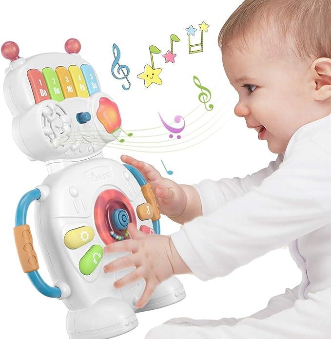 72 opinioni per Giocattolo Musicale Elettronico Robot per Bambini per 1 anno, Natale, Halloween,