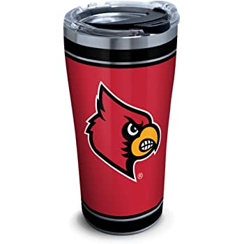 Tervis 1297991 Ncaa Louisville Cardinals Tradition Stainless Steel Tumbler With Lid 20 oz Silver