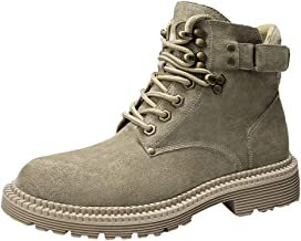 AxyOFsp Men's Waterproof Snow Soft Toe Boots Hiking Mountain Boot Mid Top Rubber Sole Boots for Work Or Casual Wear