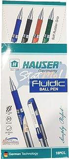 Hauser Fluidic Ball Pen Pack Of - 10 Black Ink