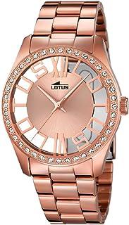 6cf62cb1dd Lotus – Reloj de Cuarzo para Mujer con Oro Rosa Esfera analógica y Acero  Inoxidable bañado