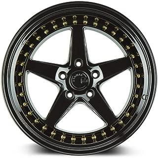 AodHan DS05 Wheel - Gloss Black W/Gold Rivets: 19x9.5 Wheel Size; 5x114.3 Lug Pattern; 73.1mm Hug Bore; 22mm Off Set.