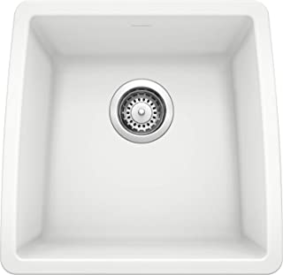 Blanco, White 440081 PERFORMA SILGRANIT Undermount Bar Sink, 9.00 x 17.50 x 17.00 inches