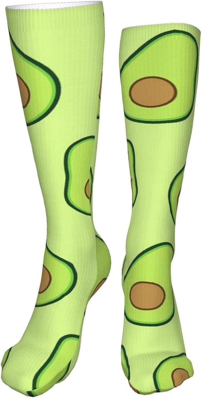 Avocado Women Premium High Socks, Stocking High Leg Warmer Sockings Crew Sock For Daily And Work