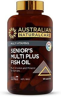 Australian NaturalCare - Multi Vitamins - Senior's Multi Plus Fish Oil Multivitamin and Mineral Capsules for Maintaining N...