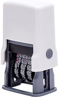 Datumstämpel, DEECOZY justerbar tidsstämpel justerbar tätning gummimaterial bärbar, månader med bokstäver, för kontor bort...