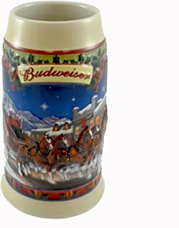 Budweiser Clydesdales Holiday Stein Old Towne Holiday 2003