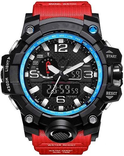 KCAPAX Montre Sport Montres de Sport pour Hommes Montre numérique étanche à l'eau LED Homme Montre-Bracelet Horloge Homme