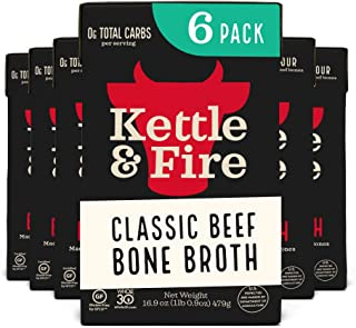 Sponsored Ad - Beef Bone Broth Soup - Organic, Grass Fed, Bone Broth Collagen Protein (10g) - Perfect for Intermittent Fas...