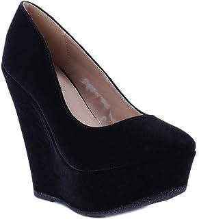 Delicacy Women's Shoes Trendy-33 Black High-Heels 6.5 D(M) US