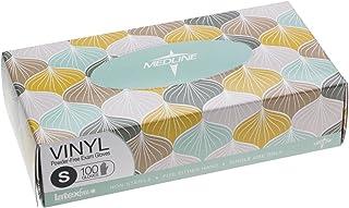 Medline Designer Boxed Vinyl Exam Gloves, Small, 100 Count, Packaging May Vary by Medline
