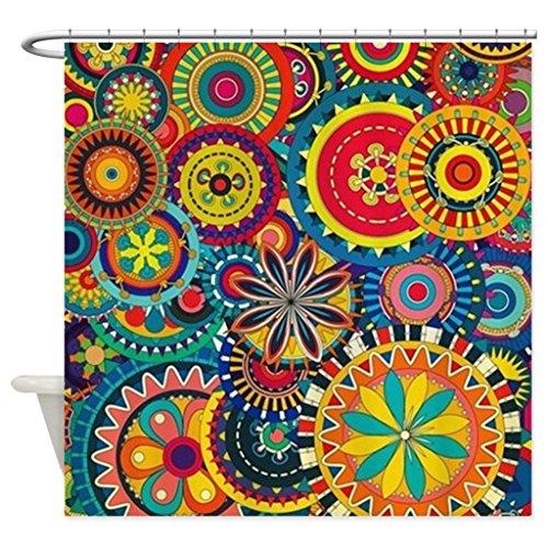 eikleom Funky Retro Muster Duschvorhang 180x 180cm wasserdicht Polyester