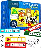 Jaques of London Phonics Spelling Games | Includes 4 Games to Play | Fun Educational Toys for 3 4 5 year olds | Perfect Games for 4 5 6 year olds Boys and Girls | Spelling Toys & Sets | Since 1795