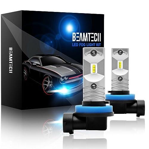 BEAMTECH H8 Led Fog Light Bulb, CSP Chips 6500K 800 Lumens Xenon White Extremely Super