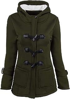 معطف نسائي فضفاض طويل من Fiere مصنوع من مزيج من الصوف بحجم كبير