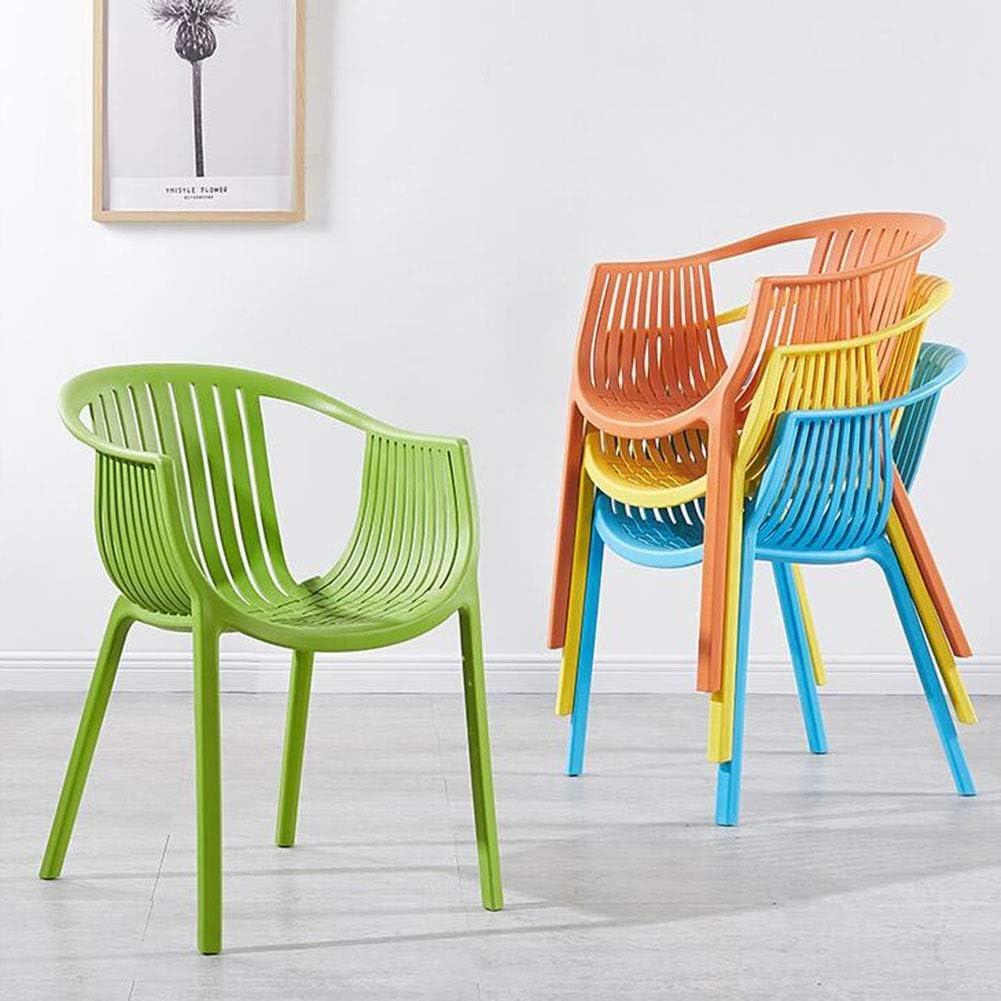DALL Chaise De Salle À Manger Lot De 2 Loisirs Nordiques Chaise en Plastique Simplicité Moderne Chaise De Réception Cuisine Restaurant Café (Color : Green) Yellow