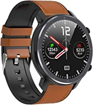 Microwear Bluetooth Smartwatch heren fitness tracker, IP68 waterdicht sporthorloge smart watch voor heren met stappentelle...