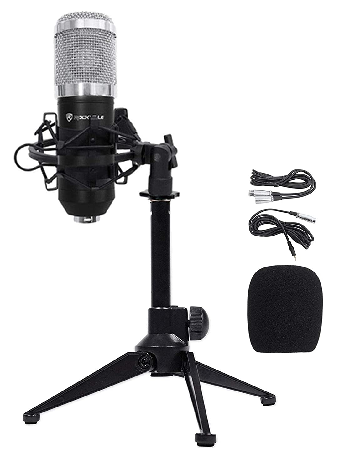 Rockville RCM01 PC Gaming Twitch Microphone Streaming Recording Game Mic+Tripod