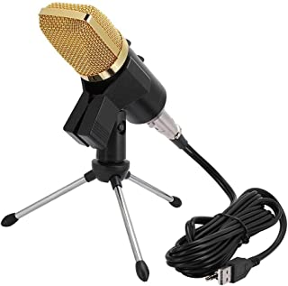 Condenser Microphone, Portable Unidirectional USB Condenser Microphone Low Noise Voice Recording Studio Computer Microphon...