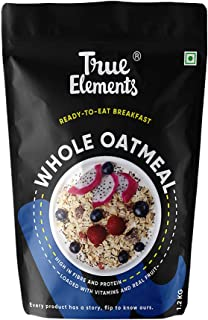 True Elements Oatmeal 1.2kg - High Fibre Whole Oatmeal for Breakfast, Super Saver Pack, Healthy Food