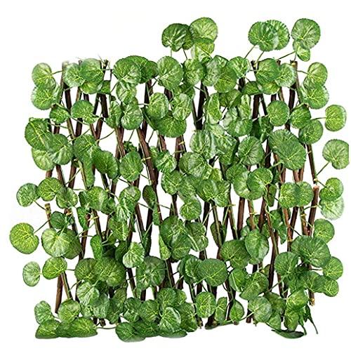 chengbaohuqu Holz Hedg Panels Einstellbare Simulation Zaun Künstliche Begonia Blätter Zaun-netz Rattan Für Garten Dekoration Gartenzaun Und Zubehör