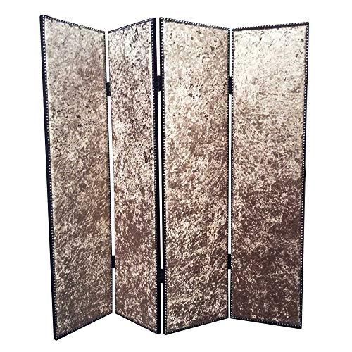 Why Should You Buy HomeRoots Fabric; Wood 84 X 80 Bronze Wood & Fabric Screen
