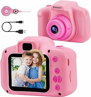 PROGRACE Kinderen Camera Kinderen Digitale Camera's voor Meisjes Verjaardag Speelgoed Geschenken 4-12 Jaar Oude Kid Camcor...