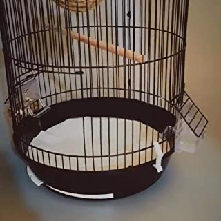 "QBLEEV Bird Parrot Cage Liners Paper, Absorbent & Disposable Pet Animal Cages Cushion, Round-100 Sheets, Diameter 11.4"", Large"