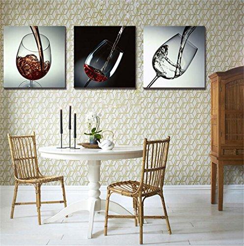 Zita and Zetan Quadri Decorativi Moderni Ristorante Murale Tazza di Vino Rosso (Dimensioni : 60 * 60 * 2.5cm)