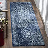Safavieh Evoke Collection EVK256A Vintage Oriental Navy and Ivory Runner (2'2' x 7')