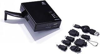 クオリティトラストジャパン 災害等の非常時にも安心! USB手回し充電付きリチウムバッテリー 3000mAh QM-051BK