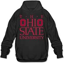 PHOEB Mens Sportswear Drawstring Hoodies Outwear Jacket,Ohio State University Black