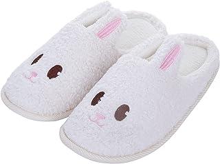 Sponsored Ad - shevalues Cute Bunny Slippers for Women Kids Fuzzy Animal Memory Foam House Slippers Waterproof Sole Home S...