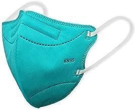 Máscaras KN95 Turquesa Verde-Água Infantil - Kit de 10, 20, 30, 40, 50, 100 Unidades - FPP2 PFF2 - Filtragem > 95% - Embal...