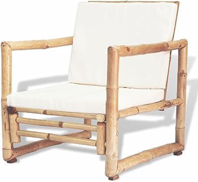 Tuduo Juego de sillas de jardín 2 Unidades de Bambú 60 x 65 x 72 cm diseño Sencillo y Elegante, Robusto y Estable Silla Exterior Taburete Bar sillones jardín: Amazon.es: Jardín