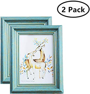 33f0cfd7f31e MUAMAX Antique Teal 5 x 7 Picture Frames Aqua Photo Frames for Table Top  Wall Hanging