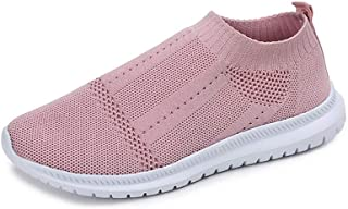 OUYAWEI Outdoor Product for Women Breathable Mesh Light Sneakers Running Travel Casual Slip On Sports Shoes