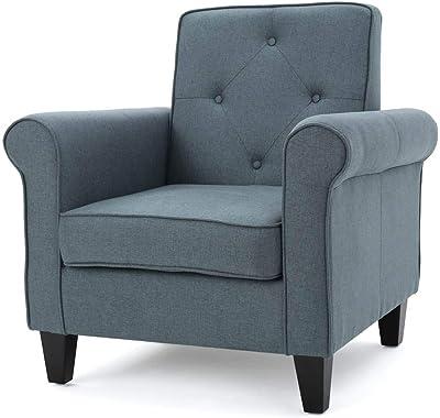 Amazon Com Baxton Studio Lombardi Linen Modern Club Chair